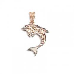 Золотая подвеска Дельфин