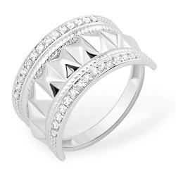 Кольцо из серебра 925 с фианитами