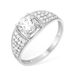 Кольцо из серебра 925 с фианитами, фианитами Swarovski