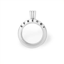 Кулон из серебра 925 с минеральным юв. стеклом