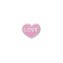 Серебряный значок «Love»