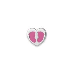 Серебряный значок «Сердечко»