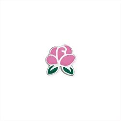 Серебряный значок «Роза»