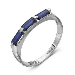 Женское кольцо из белого золота c сапфиром