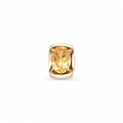 Подвеска из красного золота с цитрином