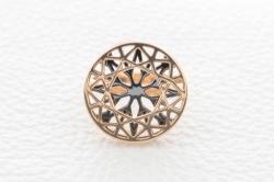 Кольцо Глянец из красного золота без камней