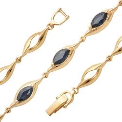Золотой декоративный браслет с сапфиром ГТ