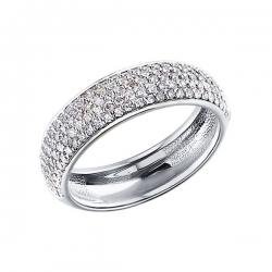 Кольцо из белого золота c множеством бриллиантов SOKOLOV