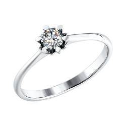 Кольцо из белого золота c бриллиантом SOKOLOV