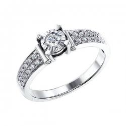 Кольцо из белого золота c бриллиантами SOKOLOV