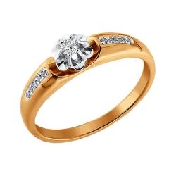 Кольцо из золота c бриллиантами SOKOLOV