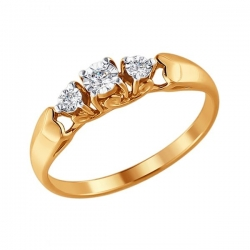 Кольцо из золота с бриллиантом SOKOLOV