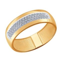 Золотое обручальное кольцо (Бриллиант) SOKOLOV