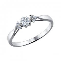 Золотое помолвочное кольцо (Бриллиант) SOKOLOV