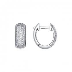 Серьги из белого золота c бриллиантами SOKOLOV
