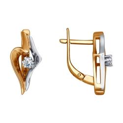 Серьги из золота c бриллиантами SOKOLOV