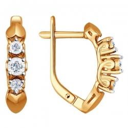 Серьги из золота с бриллиантом SOKOLOV