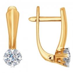 Золотые серьги с бриллиантами SOKOLOV