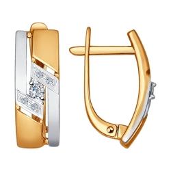 Золотые серьги (Бриллиант) SOKOLOV
