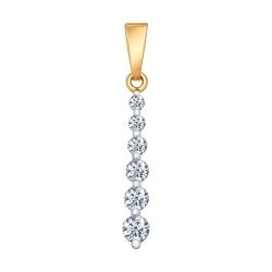 Золотая подвеска c бриллиантами SOKOLOV