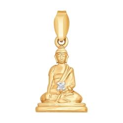 Золотая подвеска Будда с бриллиантами SOKOLOV