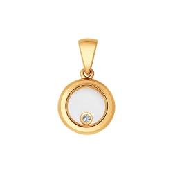 Золотая подвеска (Бриллиант, Сапфировое стекло) SOKOLOV
