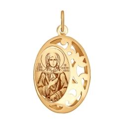 Золотая иконка Святая Блаженная Ксения Петербургская без камней SOKOLOV