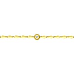Браслет из желтого золота с бриллиантом