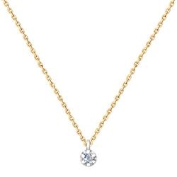 1070056 колье из комбинированного золота с бриллиантом