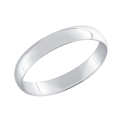 Обручальное кольцо из белого золота SOKOLOV