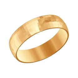 Золотое обручальное кольцо 5 мм без камней SOKOLOV