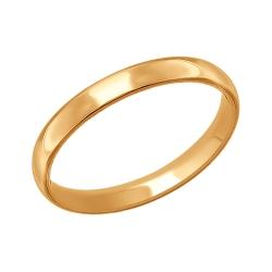 Обручальное кольцо из золота без камней SOKOLOV
