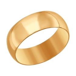 Золотое обручальное кольцо SOKOLOV