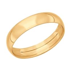 Золотое обручальное кольцо без камней SOKOLOV