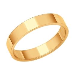Обручальное кольцо шириной 4 мм. SOKOLOV