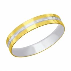 Кольцо из желтого золота с алмазной гранью