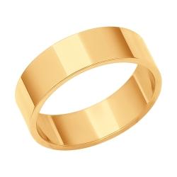 Обручальное золотое кольцо без камней SOKOLOV