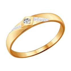 Обручальное кольцо c бриллиантами SOKOLOV