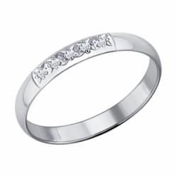 Кольцо из белого золота с бриллиантами Sokolov