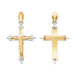 Крестик из золота c бриллиантами SOKOLOV