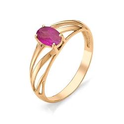 Женское золотое кольцо с рубином