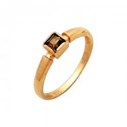 Кольцо из золота 585 пробы с раухтопазом