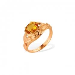Кольцо из золота 585 пробы с цитрином