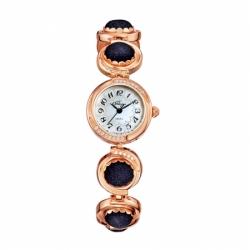 Наручные часы Flora Авантюрин синий, кварцевые