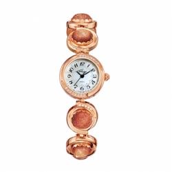 Наручные часы Flora Авантюрин золотой, кварцевые
