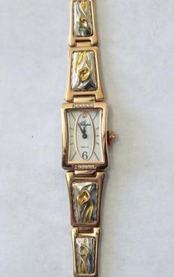 Часы с драг. металлом Flora Калла-1, кварцевые