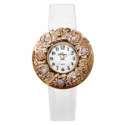 Наручные часы Flora Лето фиолетовые фианиты, кварцевые