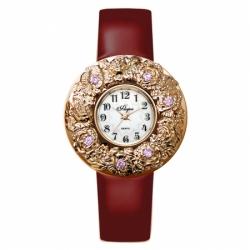 Наручные часы Flora Лето розовые фианиты , кварцевые