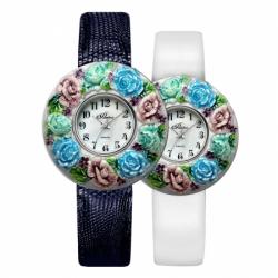 Часы с драг. металлом Flora Светлана-4, кварцевые