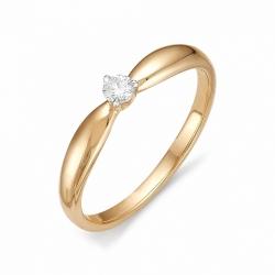 Кольцо из золота с маленьким бриллиантом